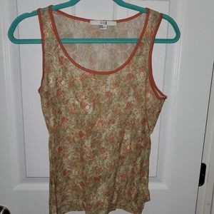 Colorful lace tank top